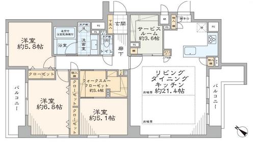 募集中 804号室(3SLDK/98.43㎡)11,780万円