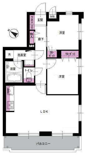 募集中 303号室(2LDK/50.46㎡)3,590万円