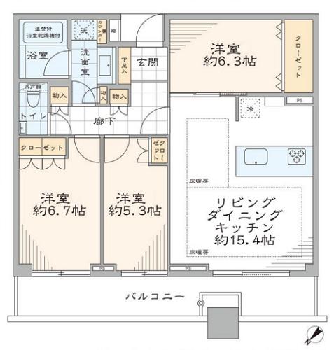 募集中 2509号室(3LDK/75.58㎡)11,380万円